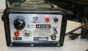 JERGENS HIOS MA-60AT DC POWER SUPPLY TESTED & WORKING