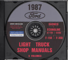 1987 Ford Truck Shop Manual 5 Book Set on CD F150 F250 F350 Bronco Van Service