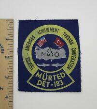 TURKISH AMERICAN AIR FORCE COOPERATION PATCH MURTED DET-183 Vintage Original