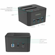 Hard Drive Docking Station, FIDECO USB 3.0 HDD Docking Station Dual-Bay External