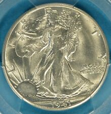 1941-S Walking Liberty Half Dollar PCGS MS63- Snow White, Very PQ for the Grade