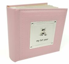 My First Year Pink Baby Girl Photo Album Present 1st Birthday Gift Memories