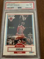 Michael Jordan 1990 Fleer Basketball Card Graded PSA 8-FREE PRIORITY SHIPPING