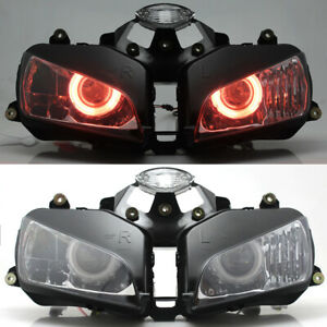 Red Angel Eyes HID Projector Fully Aseembly Headlight For Honda CBR600 2003-2006