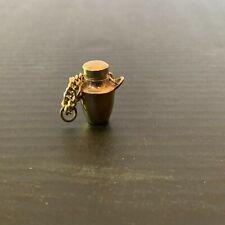 Vintage Urn Heavy Silver Color Metal Miniature Perfume Bottle