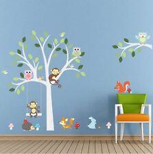 wall stickers monkey tree owl birds zoo kids decals decor vinyl baby animal