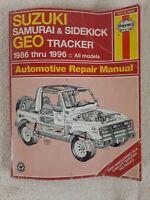 SUZUKI SAMURAI & SIDEKICK GEO TRACKER 1986 THRU 1996