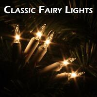 Traditional  Indoor Fairy Lights Filament glass Clear Colour Christmas Xmas