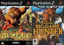 cabelas dangerous hunts & cabelas big game hunter   PAL FORMAT PS2 ONLY