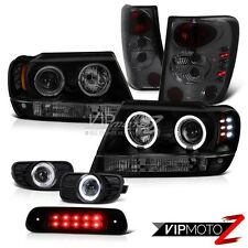 99-03 Jeep Grand Cherokee 4WD 3RD Brake Light Fog Lamps Tail Headlights LED Bk