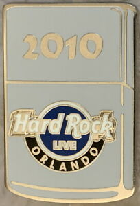 Hard Rock Live ORLANDO 2010 Flip Top Lighter Zipqo Style LAPEL PIN - HRC #55347