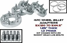 "4 BMW 5x120 MM TO 5x4.5"" 1.25"" THICK WHEEL SPACERS ADAPTERS CHANGES LUG PATTERN"