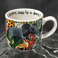 Iris Apfel Quote Safari Coffee Mug Cup- More is More, Less is a Bore! -Fashion