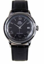 Orient Bambino Version 2 FAC0000AB0 Black Dial Black Leather Band Men's Watch
