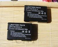 2X EN-EL14a Battery For Nikon D5100  D5200 D5300 P7000 P7100 P7800 EN-EL14 MH-24