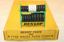 Dinky Toys 786 Dunlop tyre rack with tyres original very near mint condition 3e