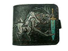 Men's 3D Genuine Leather Wallet, Hand-Carved, Bloodborne, The Holy Blade, Ludwig