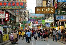 Modern Kowloon Hong Kong Street Scene Refrigerator Magnet New Gift Item