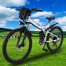 26'' Electric Bike Folding Mountain Bicycles Adult E-Bike Shimano 21Speed Gears.