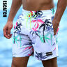 Men's Floral Print Quick Dry Surfing Beach Board Shorts Athletic Swimming Shorts