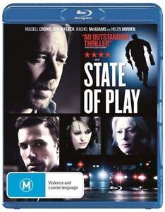State of Play (Blu-ray, 2009) Russell Crowe, Ben Affleck, Rachel McAdams