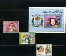 ELIZABETH II 25th ANNIV. > > LIBERIA  {3} + S/S/  >>1977   N/H