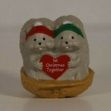 "Hallmark 1992 Merry Miniature Squirrel Couple ""1st Christmas Together"" #1"