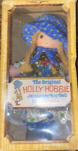 Vintage Knickerbocker The Original Holly Hobbie Miniature Rag Doll Toy 3420
