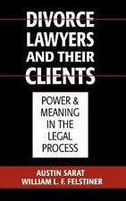 Divorce Lawyers and Their Clients : Power and Meaning in the Legal Process by...
