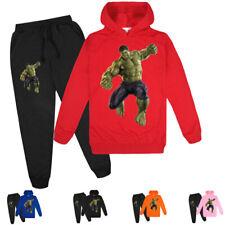 Boys Girls Hulk Kids Spring Fall Hoodies Pullover Sweatshirt Pants Clothing Sets