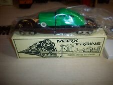 Marx MODERN #7301 SEABOARD O-Scale Flatcar W/ GREEN SEDAN OB C10 NEW