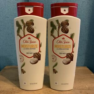 2X Old Spice MOISTURIZE with Shea Butter Body Wash 16 ozs Each BRAND NEW