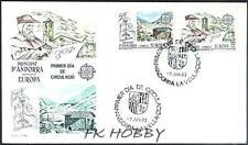 Andorra Spa 1983 FDC 165-66 Union Europa Cept Water Mill Wassermühle
