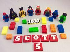 Edible Fondant Lego Marvel Superhero Birthday Cake Topper Decorations