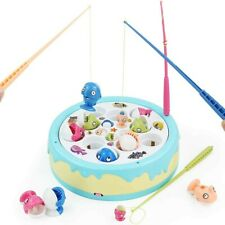 Fajiabao Music Fishing Game for Kids Electronic Cake with 4 Magnetic Fish Rods