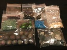 Mix Lot Semi Precious Stone Jewelry Craft Beads and Buttons #ON1