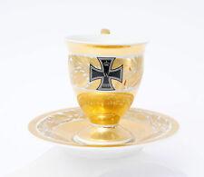 Patriotische KPM Berlin Tasse & Untertasse Eisernes Kreuz 1914 EK Wilhelm Gold