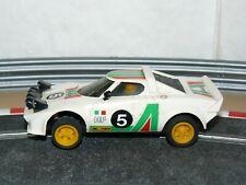Scalextric Exin Coche LANCIA STRATOS Alitalia Blanco Ref. 4055 año 1977 slot car