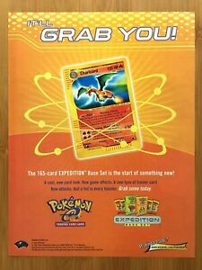 2002 Pokemon Expedition Trading Cards Print Ad/Poster Official Charizard Pop Art