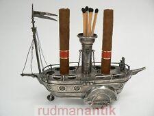 SIGARI nave Cigar Riverboat per 11 SIGARI ARGENTO 916 Portogallo 1900 per