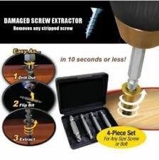 4pcs Schraube Auszieher Bohrer Drill Bits Guide Set Bolt Entferner