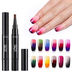 LEMOOC 5ml Nagel Gellack Thermal Thermolack Farbwechsel Nail Art Soak Off UV Gel