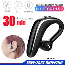 Bluetooth 5.0 Wireless Headset Headphones Earpiece Hands-free Sports Headsets UK