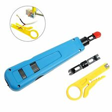 Network Wire Punch Down Impact Tool with 2 Blades 110/BK; Network Wire Stripper