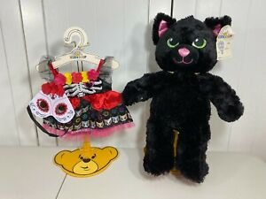 🎃 NEW Build a Bear Bright Night Black Kitty Cat w/ Day of the Dead Costume 🎃