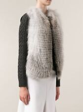 THE ROW FOX FUR VEST GILET US 2 UK 8