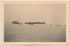 Orig. Foto Kriegsmarine Schiff Boot m. Tarn Camo