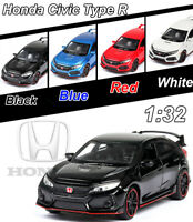 1:32 Honda 10th Civic Type R Diecast Model Light&Sound Pullback Collection Toys