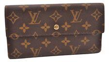 Auth Louis Vuitton Monogram Porte Tresor International Long Wallet LV 63599