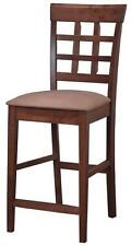 Walnut Finish Wheat Back Counter Height Dining Chair by Coaster 101209  Set of 2